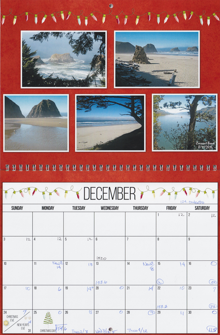A photocrafting calendar of pictures from different hikes with a friend is a great Memories calendar.