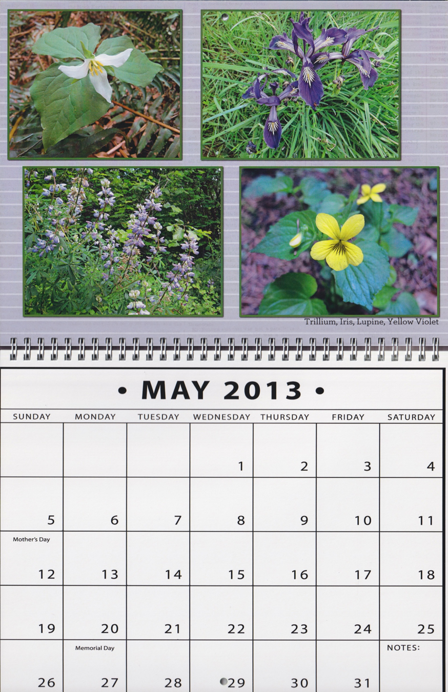 A calendar of plants around our house is an example of a Place theme.