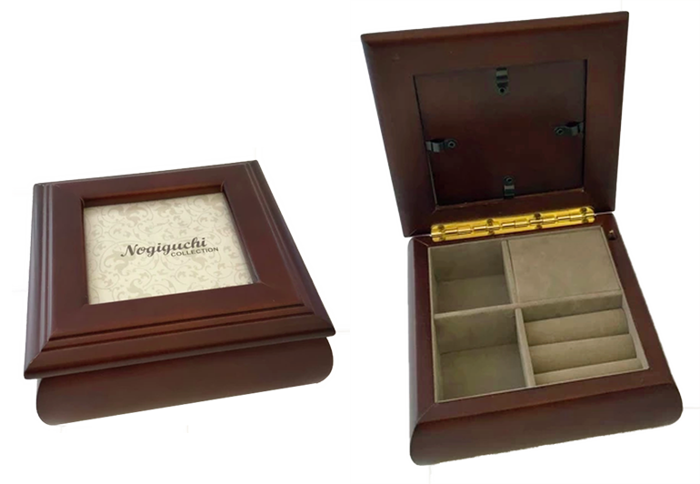 An image of a current music box product that is intended to have a photograph inserted in the lid.